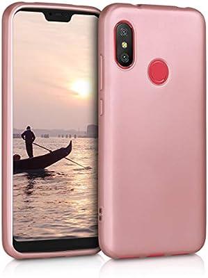 kwmobile Funda para Xiaomi Redmi 6 Pro/Mi A2 Lite - Carcasa para móvil en [TPU Silicona] - Protector [Trasero] en [Oro Rosa Metalizado]