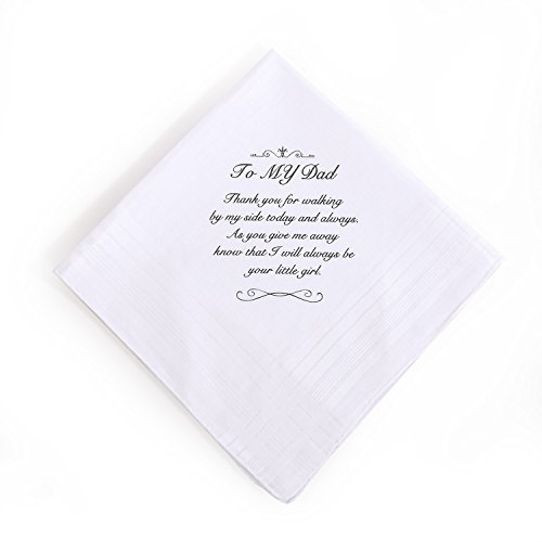 Ling's moment Handkerchief, Hankie for Dad Father's Day Gift, Wedding, Birthday Thanksgiving Christmas New Year Gift, 100% Cotton