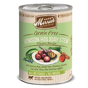 Merrick Classic Grain Free Venison Holiday Stew Canned Dog Food