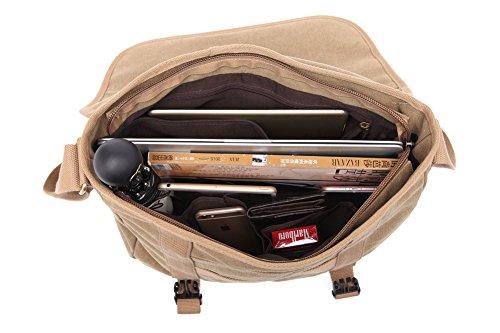 Genda 2Archer Bolso Durable del Mensajero de la Lona del Bolso de la Honda del Bolso de la Honda (38cm * 14cm * 30cm) (Marrón) Marrón