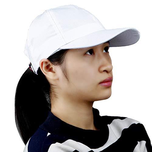 (Samtree Unisex Sun Hat,Ultra Thin Quick Dry Lightweight Summer Sport Running Baseball Cap(02-White))