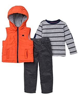 Boys 3 Piece Bear Vest Jacket Set,