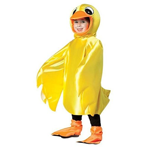 Rubber Ducky Boy Child Costumes (Funny Rubber Ducky Toddler Child Costume Lightweight Yellow Duck Bird 3T-4T)