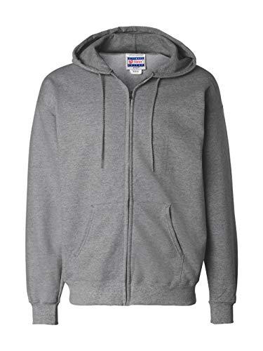 Cotton Stretch Zip Hoodie - Hanes Mens Ultimate Cotton® Heavyweight Full Zip Hoodie
