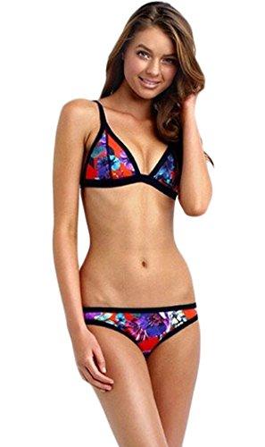 Yonas Women's Printed Bikini Set Sexy Women Beachwear Swimsuit(SIZE S)