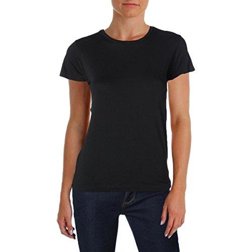 Polo Ralph Lauren Womens Logo Crew Neck T-Shirt Black M