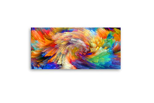 VisualArts Vibrant Luxurious Single Panel PVC Sheet Backed Acrylic Wall Pictures with Wood Hanger Art ()