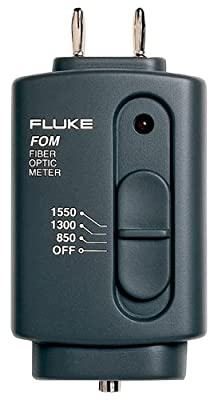 Fluke FOM Fiber Optic Power Meter, 9V Alkaline Battery, 0 to 40 Degree C Operating Temperature