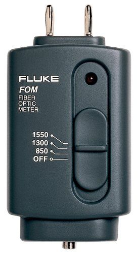Fluke FOM Fiber Optic Power Meter, 9V Alkaline Battery, 0 to 40 Degree C Operating Temperature