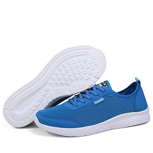 Sneakers da Blu Mesh da Traspirante Scarpe da Corsa Uomo in e Athletic Cricket superficiali da Stile Donna Casual Scarpe rUrqfBRI