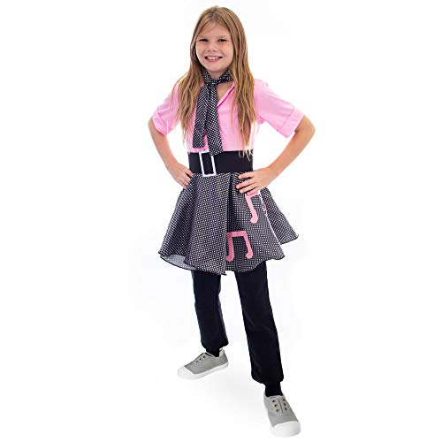 Boo! Inc 50s Sock Hop Halloween Costume| Poodle Skirt Outfit, L ()