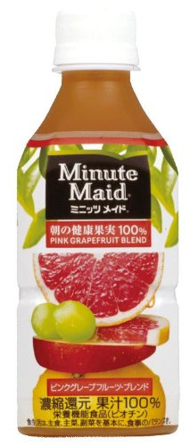 Minute Maid morning of health fruit pink grapefruit blend 350ml ~ 24 this