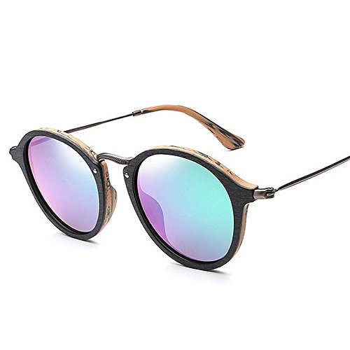 lunettes de de UV unisexe yeux Lentille s cadre soleil colorée lunettes soleil femmes en les polarisées lunettes conduite de lunettes soleil hommes de lunettes bois de pour Rétro Cat soleil Vert protection SB4qCUxwO4