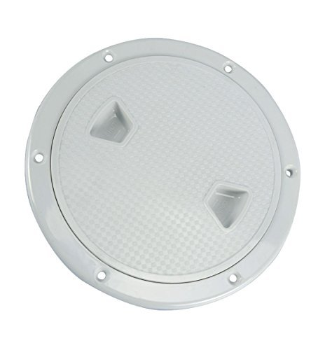Amarine-made 6'' Boat Round Non Slip Inspection Hatch with Detachable Cover 198mm