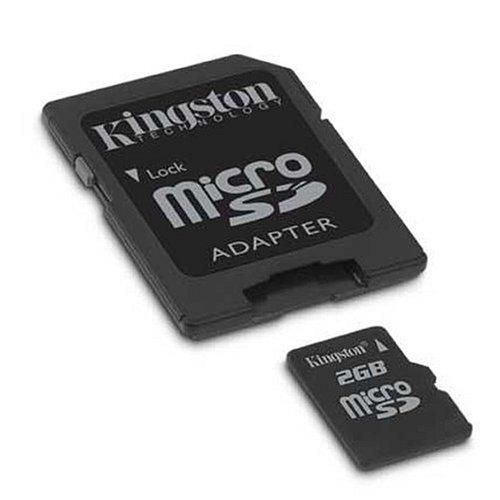 Kingston 2GB microSD Memory Card w/SD Adapter