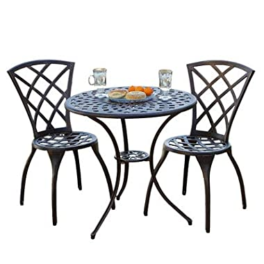 Best Selling Cast Aluminum Bistro Set, 3-Piece