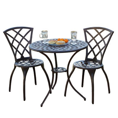 Best Selling Cast Aluminum Bistro Set, 3-Piece by Best-selling
