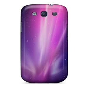 Hot RTcbA8700PcwbO Case Cover Protector For Galaxy S3- Mac Purple Stars