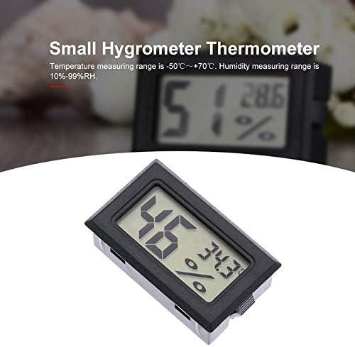 Jacobden Eingebettetes Thermometer Hygrometer Drahtloses elektronisches Thermometer Hygrometer Digitaler Luftfeuchtigkeitsmesser f/ür Innenr/äume