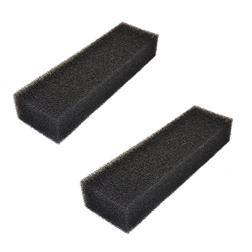 HQRP 2-Pack Square Foam Aquarium Filter for Eshopps AEO19070 Replacement fits Eshopps RS-300 / RS-200 Reef Sump System, Zoo Med 501 External Filter, Large Coaster -