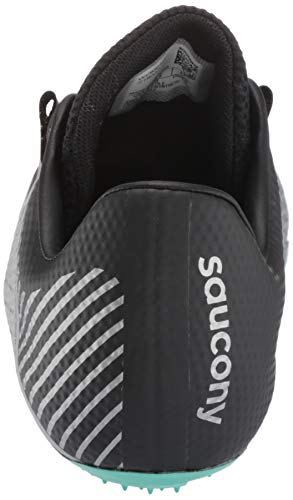 Saucony Women's Showdown 4 Track Shoe, Silver/Teal, 5 Medium US by Saucony (Image #2)