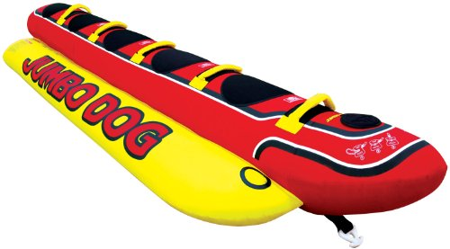 Kwik Tek Jumbo Dog Inflatable - Towable Tube Inflatable Ski Water