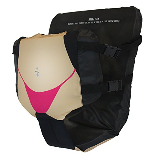 Neoprene Raft - Floaty Pants Hands-Free Party Floatation Device (Sexy Thong, M)