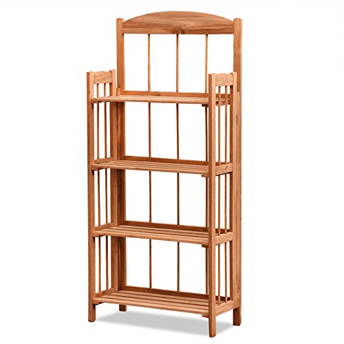 shelving white stackable bookshelf solid freestanding store bookcase s foldable container storage wood the folding
