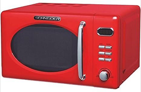 Schneider MW720 fr Microondas, color rojo