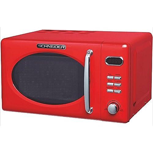 Schneider MW 720 Comptoir - Micro-ondes (Comptoir, Micro-ondes uniquement, 20 L, 700 W, boutons, Rotatif, Rouge)