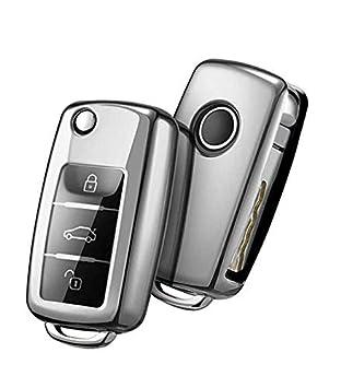 Funda para llave de coche para VW Seat Skoda funda mando a distancia Foba J57 3 botones Volkswagen Beetle New CC Caddy Maxi Van Golf MK5 MK6 EOS Fox ...
