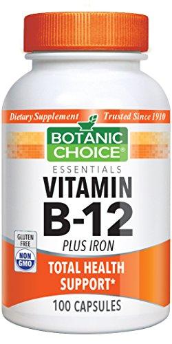 [Botanic Choice Vitamin B-12 plus Iron, 100 Capsules] (Herbal Iron)