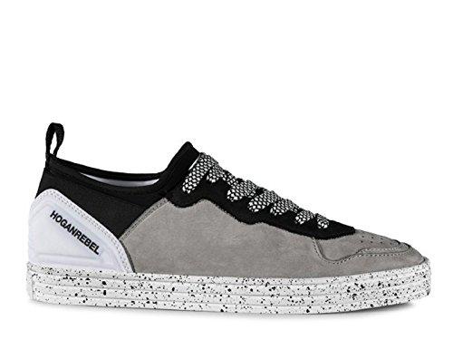 Hogan Sneakers Rebel in nabuk e Tessuto Grigio - Codice Modello: HXM1410U370FMA356L Grigio