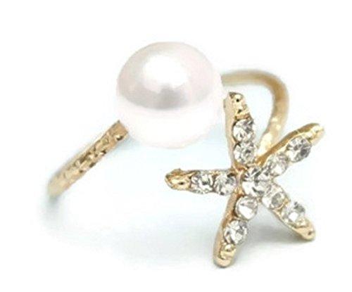 Crystals Wrap Toe Ring - Pizazz Studios Crystal Starfish Adjustable Wrap Ring