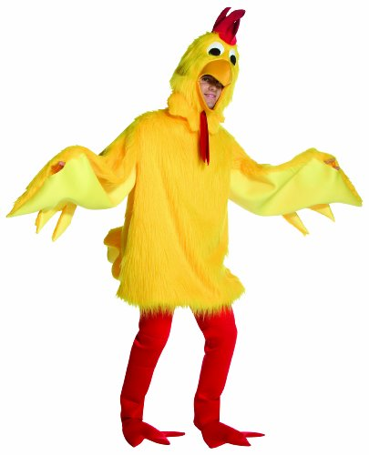 Rasta Imposta Fuzzy Chicken, Yellow, One Size (Adult Rooster Costume)