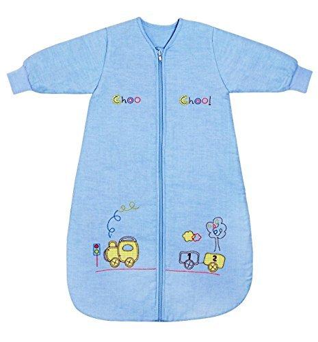Slumbersac Saco de dormir de bebé Invierno manga larga aprox. 2.5 Tog, trenecito, de- 6-18 meses