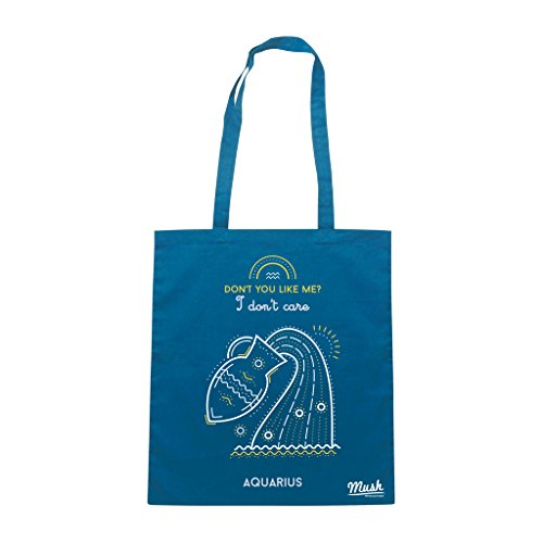 Borsa ZODIAC AQUARIUS - Blu Royal - DIVERTENTE by Mush Dress Your Style