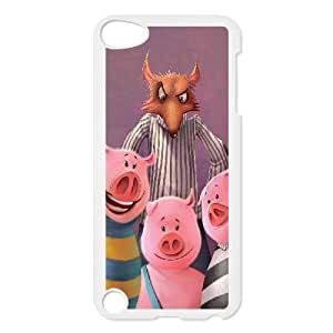 Custom for iPod Touch 5 Case White Three Little Pigs Theme OJ7926