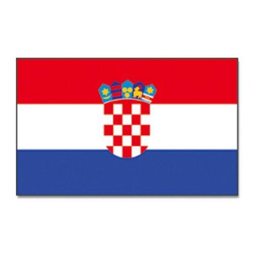 Flaggenking Kroatien Flagge Fahne Mehrfarbig  X  Amazon De Garten
