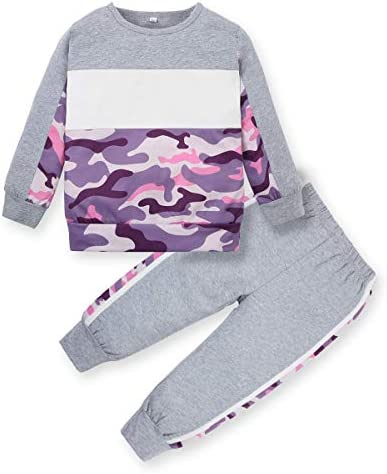 ZOEREA Toddler Clothes for Girls (1-6T) Long Sleeves Sweatshirt and Pants Outfits Toddler Girl Fall Winter Clothing Set