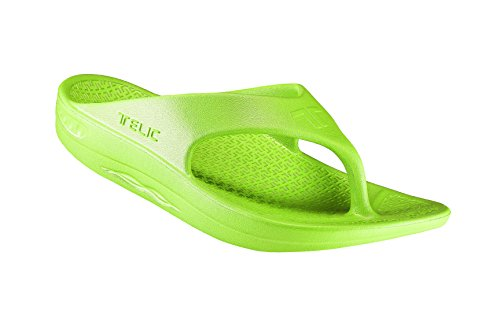 (Telic / Terox Flip Flop Sandal Shoes by Color Key Lime Various Sizes (XL))