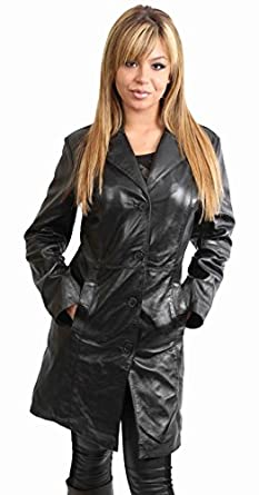 Ladies Long Leather Coats