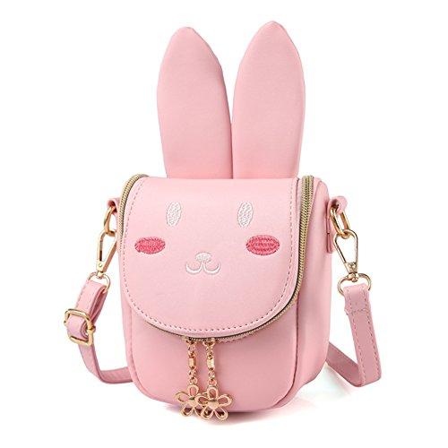 CMK Trendy Kids Toddler Bunny Purse Shoulder Bags for Girls for Children -