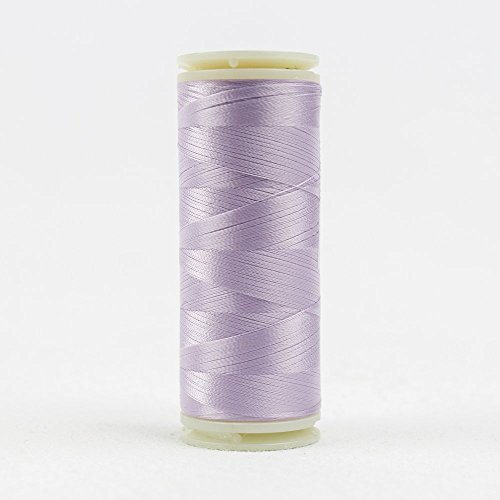 WonderFil InvisaFil Specialty Thread, 2-Ply Cottonized Soft Polyester, Silk-Like Thread for Fine Sewing, 100wt - Violet, 400m - 2 Ply Quilting Thread