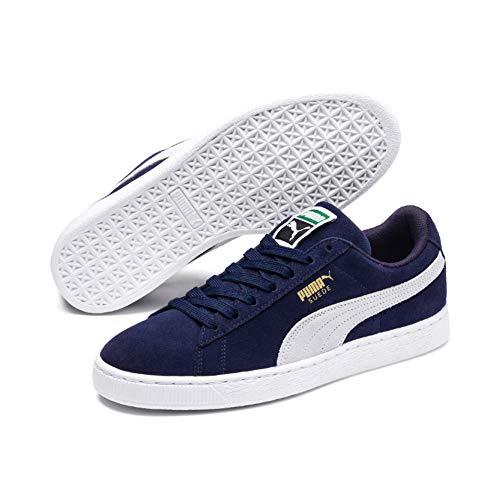 Puma Men's Suede Classic + Sneaker, Peacoatwhite, 10.5 M Us
