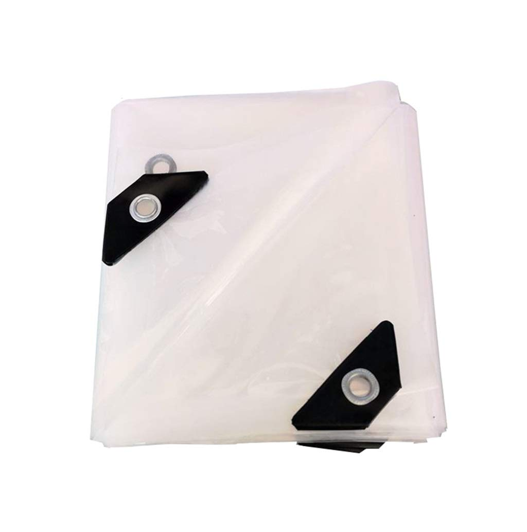 LQQFF Transparent Tarpaulin Thick Tarpaulin Waterproof, White Transparent Plastic Film, Greenhouse Insulated Tarpaulin Dust and rain Cover (Size : 11m)