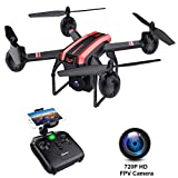 SANROCK X105W Drones with Camera for Adults 720P HD WiFi Real-time Video Feed. Long Flying Time 17Mins, Altitude Hold, Gravity Sensor, Route Made, One Key Take Off/Landing, Great GIFS for Boys.