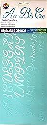 Delta Creative Stencil, 5.25 by 13-Inch, 951140012 Script Alphabet