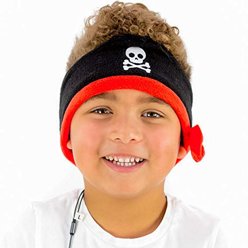 CozyPhones Kids Headphones Volume Limited with Thin Speakers & Super Soft Fleece Headband - Perfect Toddlers & Children's Earphones for Home, School & Travel - Pirate