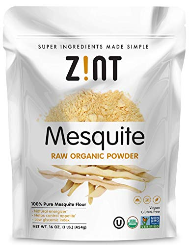 Raw Mesquite Powder by Zint: Organic, Non GMO, Vegan Protein Superfood - Mesquite Beans & Pods - Delicious Gluten Free Flour Substitute (16 ()